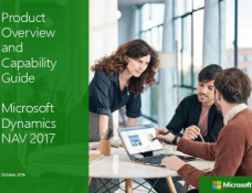 Microsoft Dynamics NAV 2017 Product Guide